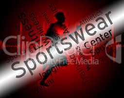 Sportswear Word Indicates Shirt Garments And Words