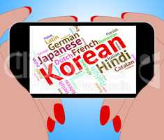 Korean Language Represents Text Translator And Words