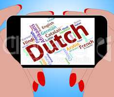 Dutch Language Represents The Netherlands And Foreign