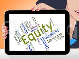 Equity Word Shows Fund Words And Wordcloud