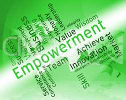 Empowerment Words Shows Spur On And Empowering