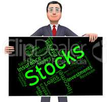 Stocks Word Means Return On Investment And Growth