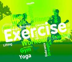 Exercise Words Shows Working Out And Exercised