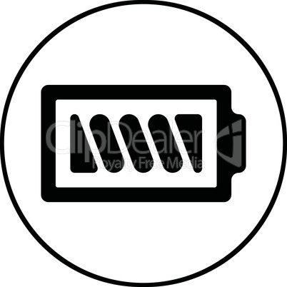 Battery icon - vector, flat design. Eps 10