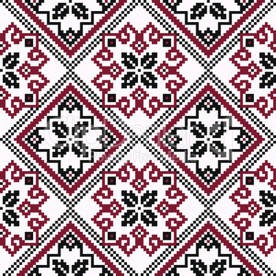 Ethnic Ukrainian geometric broidery