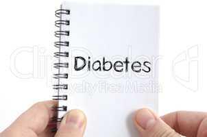 Diabetes text concept