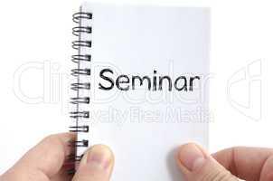 Seminar text concept