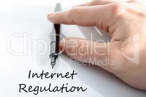 Internet regulation text concept
