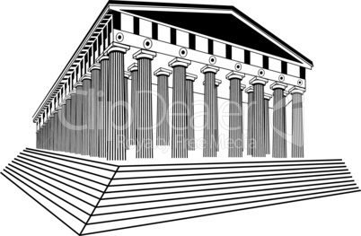 Greece Parthenon sketch vector illustration
