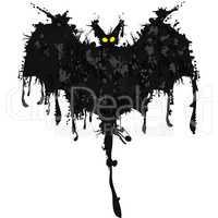 Bat. Happy Halloween card. Vector illustration
