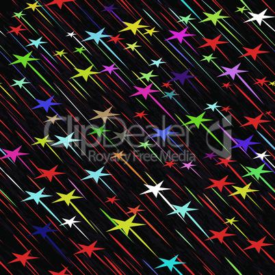 Star rain seamless background vector illustration. Nature meteorite drip drop pattern.