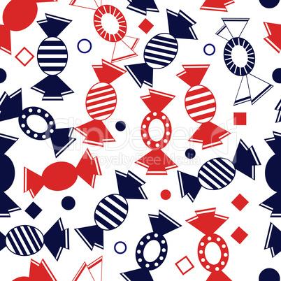 Sweet, candy, bonbon, bon-bon, sweetmeat seamless pattern event vector illustration.