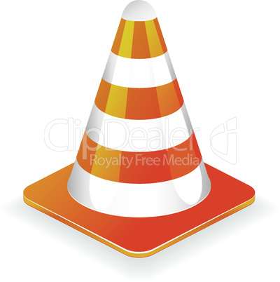 Traffic cone vector illustration icon, element for design