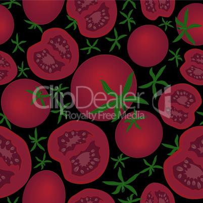 Tomato seamless texture vector illustration.Vegetable organic food ripe sliced