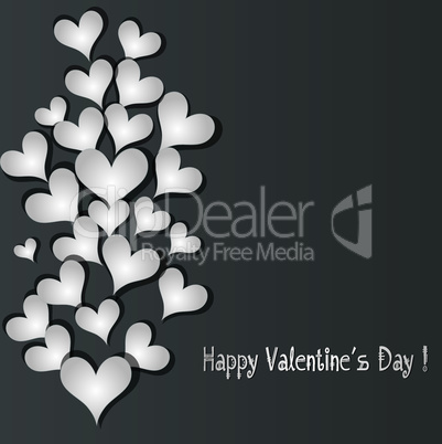 Love pattern heart banner vector background.