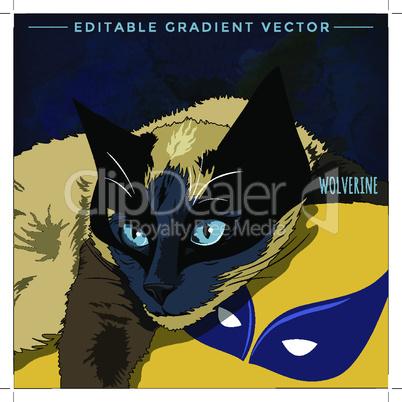 Cats superheroes. Wolverine
