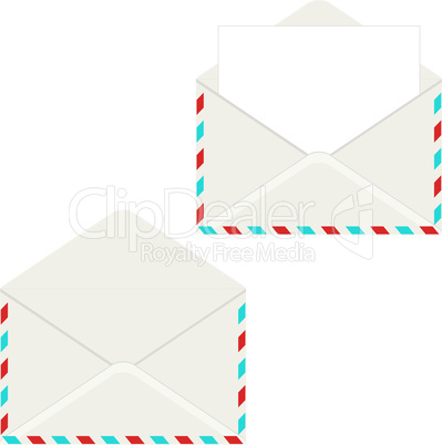 Open envelope with letter. Vector illustration. Elemant for design.