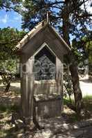 Crucifix cross memorial on the mount filerimos, Greece, Rhodes