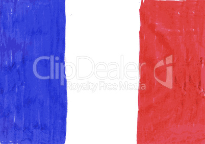 National flag of France pencil drawing vector
