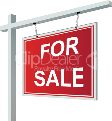 For sale sign vector illustration