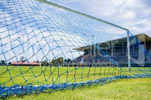 Soccer goal in stadium