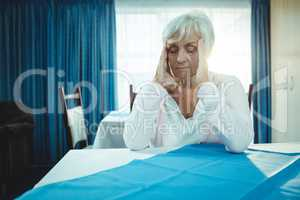 Pensioner with headache