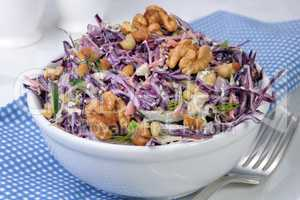 salad of shredded  cabbage
