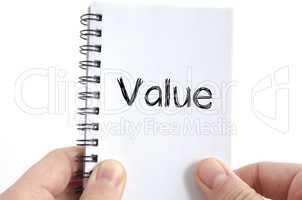 Value text concept
