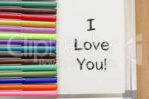 Felt-tip pen and whiteboard