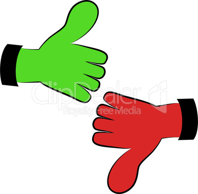 Art vector hand gesture like unlike with thumb up icon.