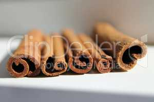cinnamon sticks from the end, daylight