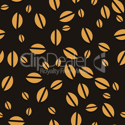 Coffee vector seamless beans background. Vector illustration