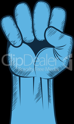 Clenched fist hand vector. Victory, revolt concept. Revolution, solidarity, punch, strong, strike, change illustration.