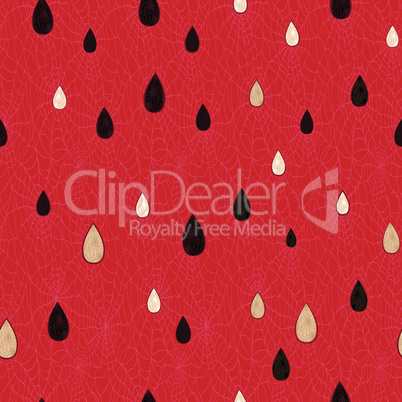 Seamless watermelon fruit pattern. Vector food background seed texture.