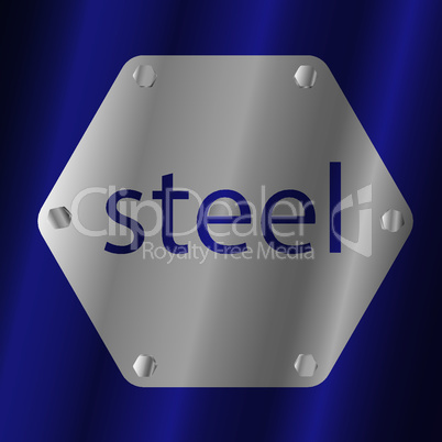 plate with an inscription with screws on a blue background-02