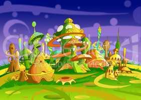 Mystery Wonderland. Futuristic Alien City