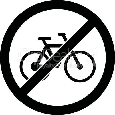 No bicycle sign Vector illustration. Flat design.