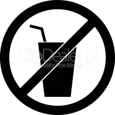 No drink sign. Vector illustration. Flat design.