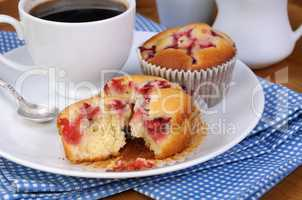 muffin with strawberries