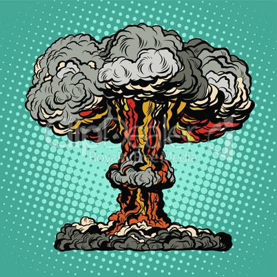 Nuclear explosion radioactive mushroom pop art