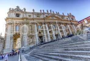 Saint-Peter's basilica facade, Roma, Italy
