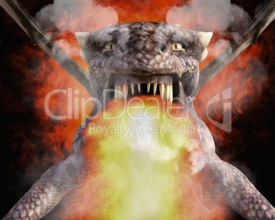 3D Illustration; 3D Rendering of a Dragon