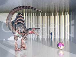 Dinosaurier Spinosaurus im Zoo