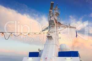 Ship radar tower