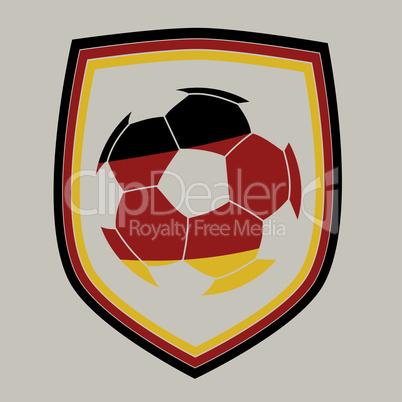 Deutsche Flagge auf Fußball