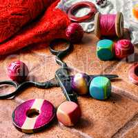 Beads and thread