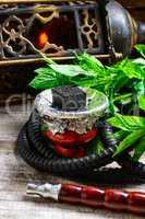 hookah with mint