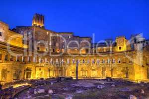 Trajan's forum, Traiani, Roma, Italy, hdr