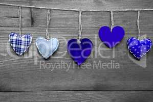 Loving Greeting Card With Blue Hearts