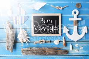 Sunny Nautic Chalkboard, Bon Voyage Means Good Trip